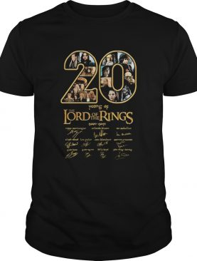 20 years of the lord of the rings 2001 2021 signatures shirt