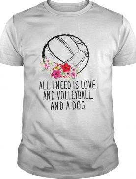 All I Need Is love And Volleyball And A Dog shirt