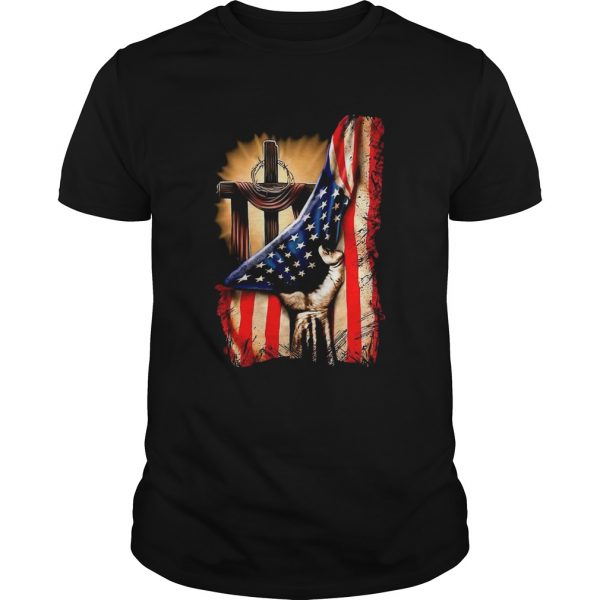 American Flag Cross  Unisex