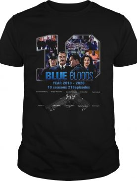 Blue Bloods 10 Years 2010 2020 10 Seasons 218 Episodes shirt