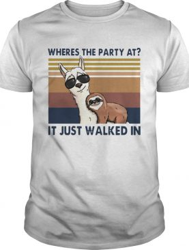 Camels And Sloths Wheres The Party At It Just Walked In Vintage shirt