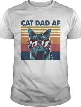Cat dad af glasses vintage shirt