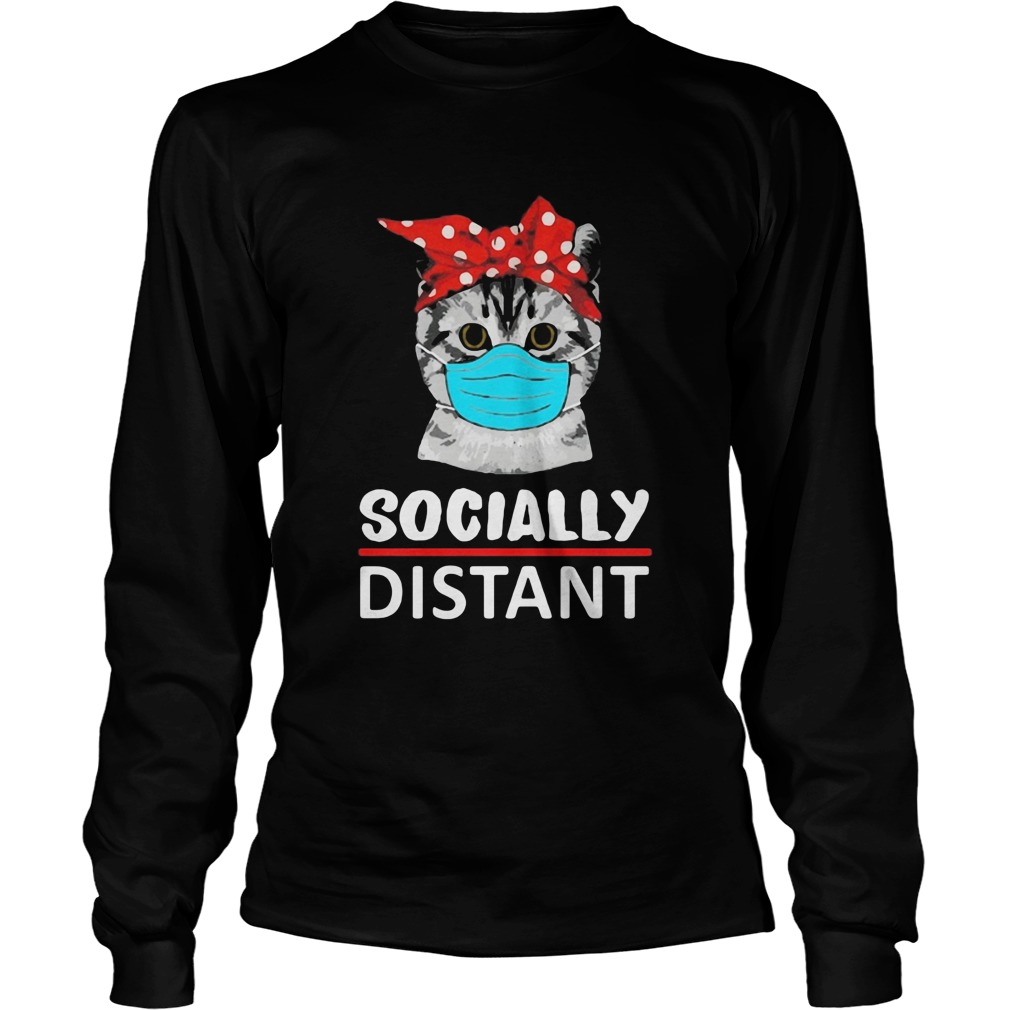 Cat mask social distant  Long Sleeve