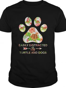 Flower easily distracted by sloths and dogs paw shirt