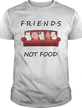 Friends not food on the sofa animal shirt