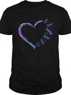 I Love Heart Dragonfly shirt