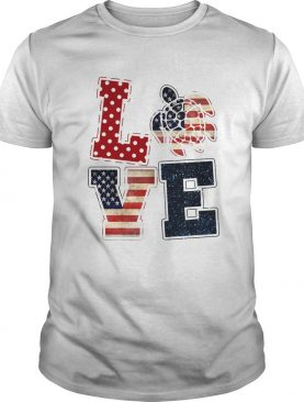 Love turtle American flag veteran Independence Day shirt