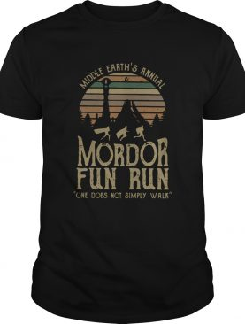 Middle Earths Annual Mordor Fun Run One Does Not Simply Walk Vintage shirt