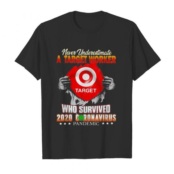 Never underestimate a target worker who survived 2020 coronavirus pandemic  Classic Men's T-shirt