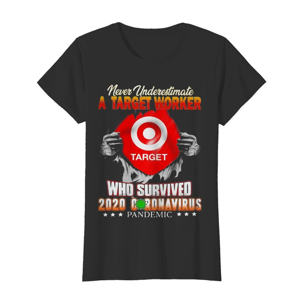Never underestimate a target worker who survived 2020 coronavirus pandemic  Classic Women's T-shirt