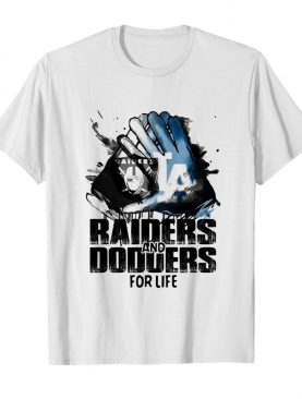 Oakland Raiders and los angeles dodgers for life art shirt