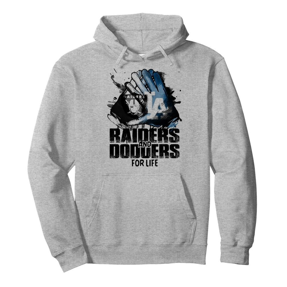 Oakland Raiders and los angeles dodgers for life art  Unisex Hoodie