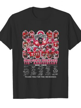 Ohio state buckeyes 130th anniversary 1890 2020 thank you for the memories signatures shirt