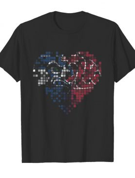 Seattle seahawks and washington state cougars heart puzzle shirt