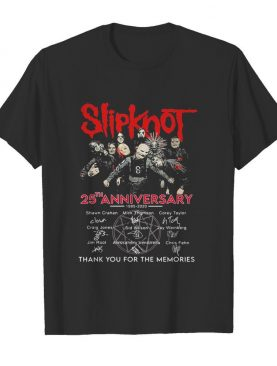 Slipknot 25th anniversary thank you for the memories signatures shirt