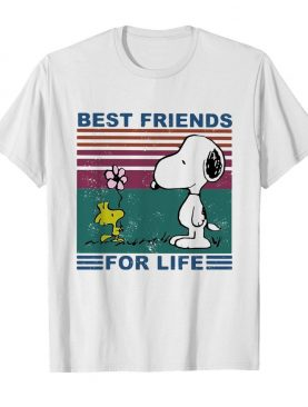 Snoopy and woodstock best friends for life vintage shirt