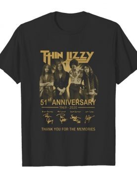 Thin Lizzy 51th Anniversary 1969 2020 Signature Thank You For The Memories shirt