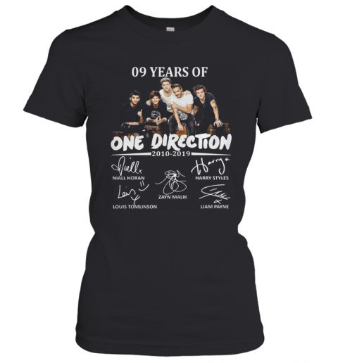 09 Years Of One Direction 2010 2019 Signatures T-Shirt Classic Women's T-shirt