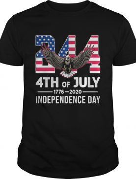 244 4th Of July 1776 2020 Independence Day Bald Eagle shirt