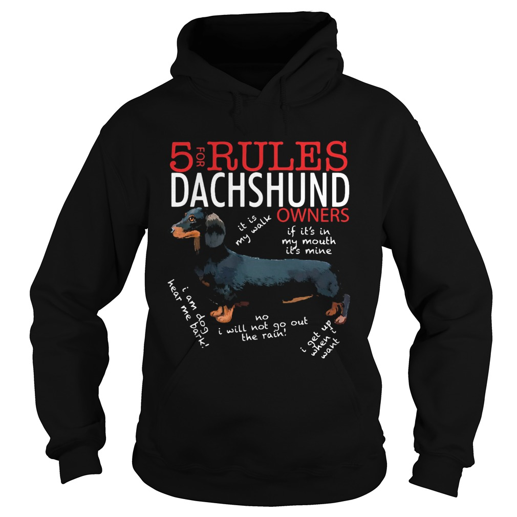5 For Rules Dachshund Owners It Is My Walk I Get Up When Want  Hoodie