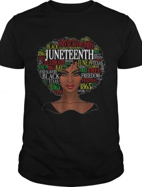 Black woman emancipation end slavery black free juneteenth 1865 shirt