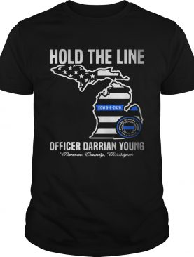 Hold the line officer darrian young shirt