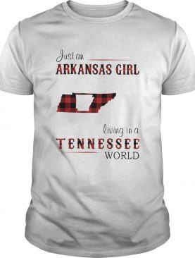 Just an arkansas girl living in a Tennessee world map shirt