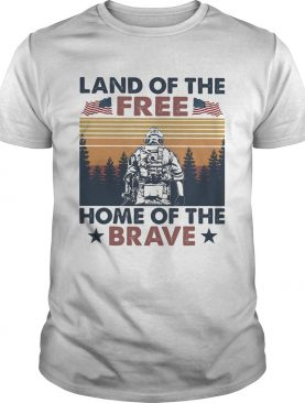 Land of the free home of the brave vintage retro shirt