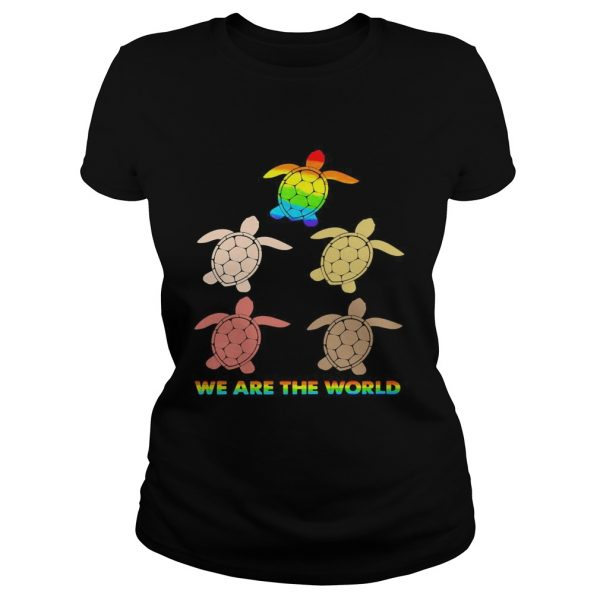 Lgbt turtle we are the world  Classic Ladies
