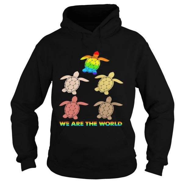 Lgbt turtle we are the world  Hoodie