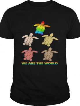 Lgbt turtle we are the world shirt