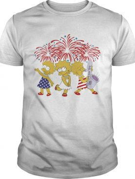 Lisa simpson firework american flag independence day shirt