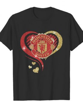 Love manchester united hearts diamond shirt
