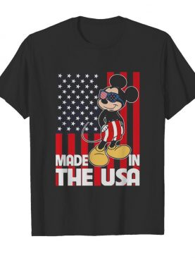 Mickey mouse made in the usa flag independence day shirt
