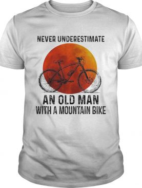 Never underestimate an old man with a mountain bike sunset shirt