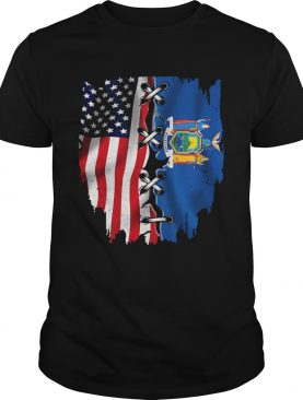 New York State and American flag veteran Independence day shirt