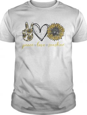 Peace love sunshine sunflower shirt
