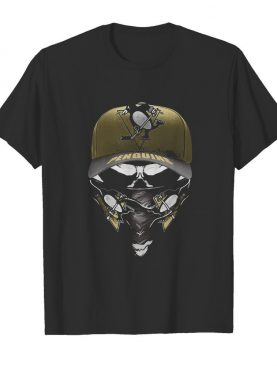 Skull mask pittsburgh penguins hockey logo shirt