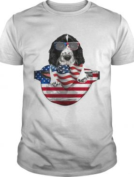 Springer spaniel waist pack flag american flag independence day shirt