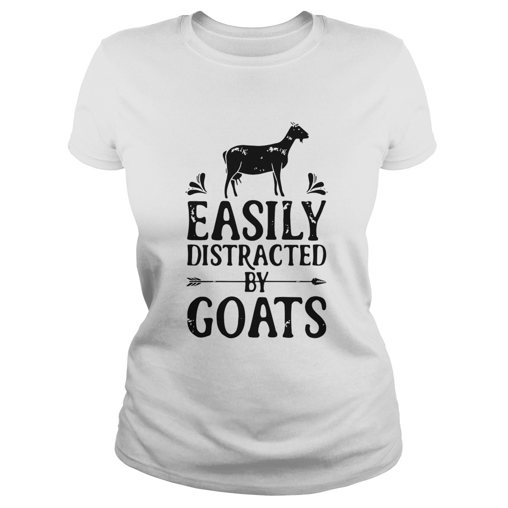Easily Distracted By Goats  Classic Ladies