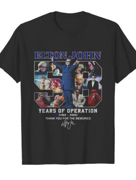 Elton john 58 years of operation 1962 2020 thank you for the memories signature shirt