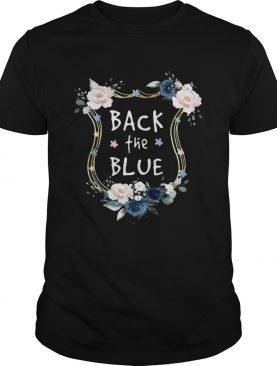 Flower Back The Blue shirt