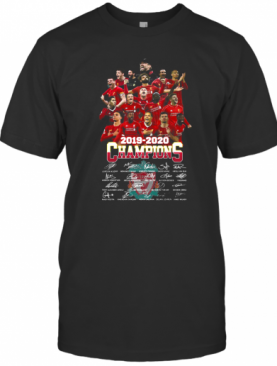 Liverpool Football Club 2019 2020 Champions Signatures T-Shirt