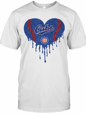 Love Chicago Cubs Baseball Heart Diamond T-Shirt