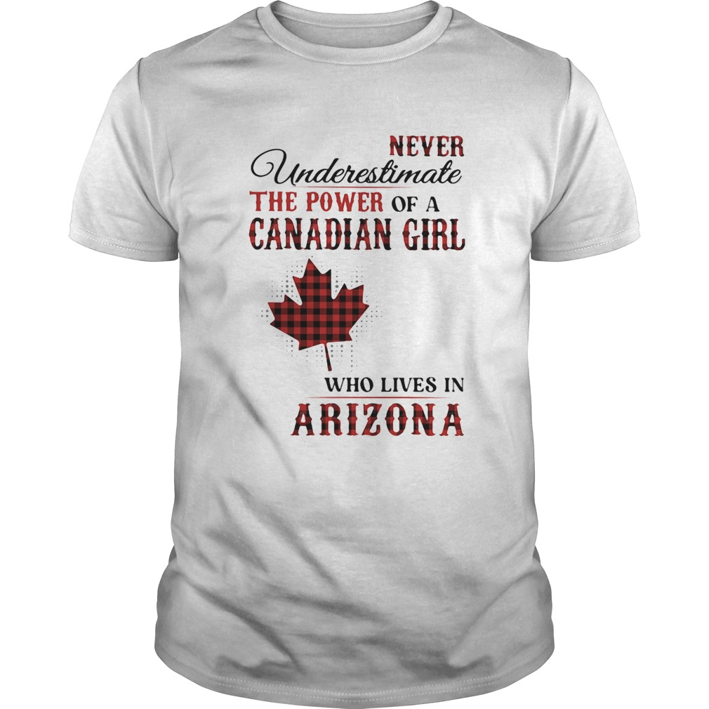 Never underestimate the power of a canadian girl who lives in arizona  Unisex