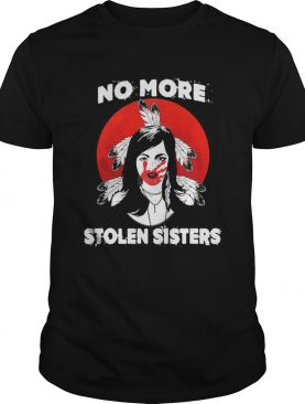 No more stolen sisters sunset feather shirt