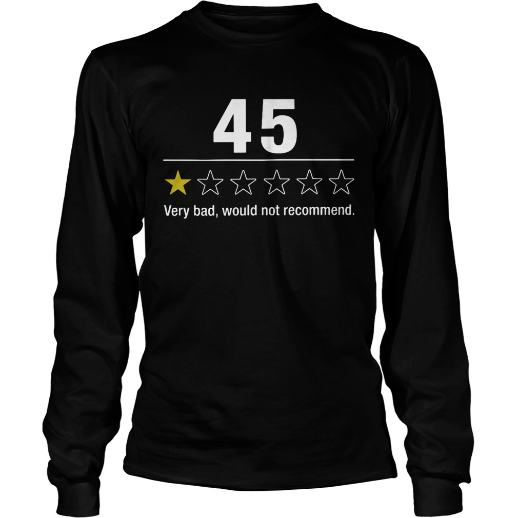 45 Very Bad Would Not Recommend  Long Sleeve