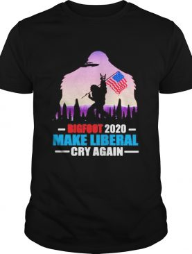 BIGFOOT 2020 MAKE LIBERAL CRY AGAIN AMERICAN FLAG shirt