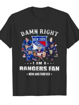 Damn right i am a rangers fan now and forever stars shirt