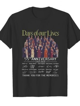 Days of Our Lives 55th Anniversary Full cast Signature Thank You for The Memories shirt